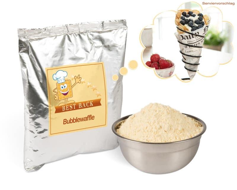 Backmischung für Bubblewaffeln (5x1kg) - Best-Back Vertrieb - einfach, schnell & vielfältig