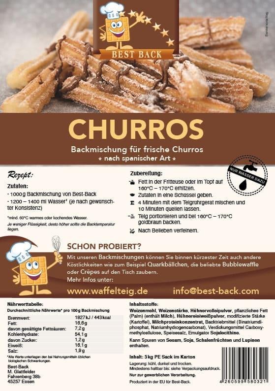 Label Churros - Best-Back Vertrieb - einfach, schnell & vielfältig