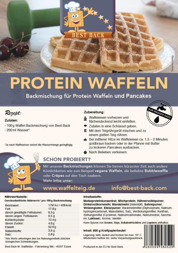 Label Protein Waffeln - Best-Back Vertrieb - einfach, schnell & vielfältig