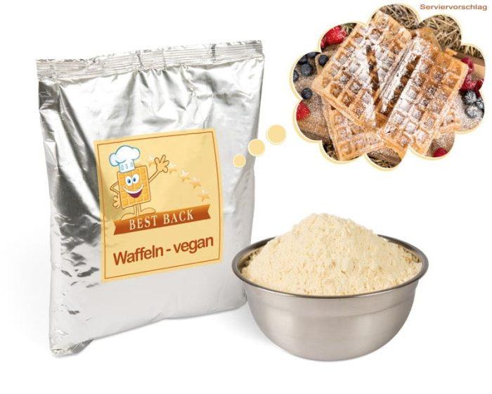 Backmischung für vegane Waffeln (5x1kg) - Best-Back Vertrieb - einfach, schnell & vielfältig